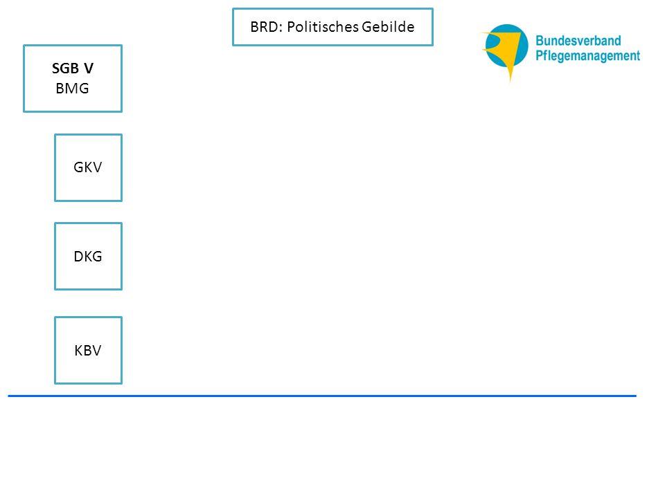 KBV DKG GKV SGB V BMG BRD: Politisches Gebilde Deutscher Pflegerat