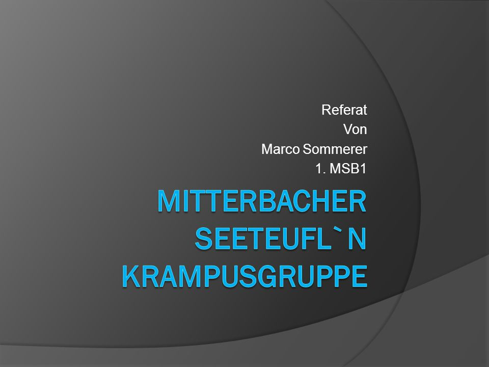 Referat Von Marco Sommerer 1. MSB1