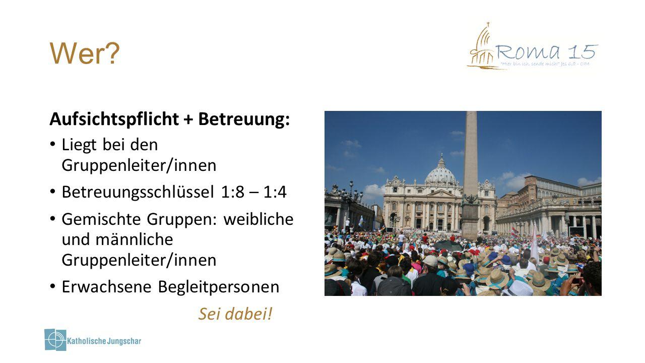 Wieviel.Kosten: 450 Euro pro Person Inkl. Wallfahrtspaket (Halstuch, Heft etc.) Exkl.