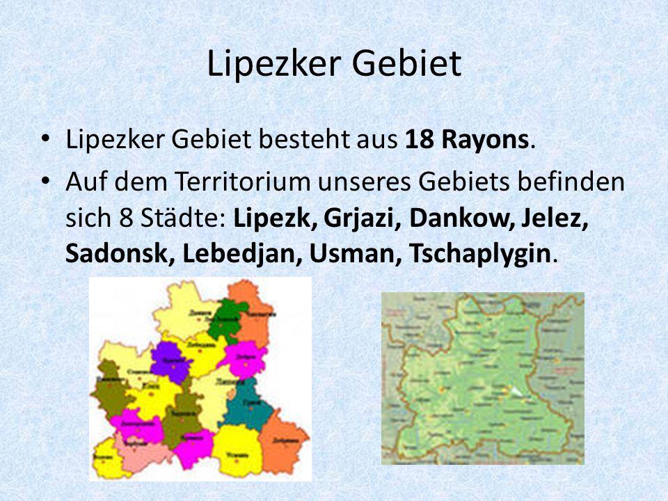 8 Städte Lipezker Gebiets Lipezk Grjazi Dankow Jelez