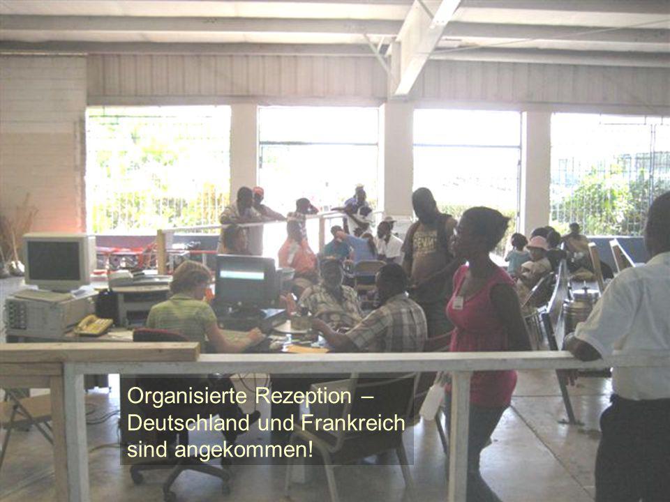 Organisierte Rezeption – Deutschland und Frankreich sind angekommen!