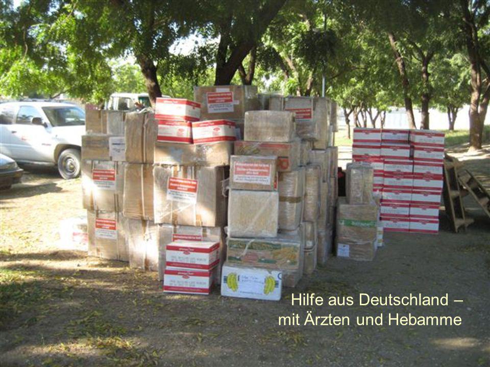 Hilfe aus Deutschland – mit Ärzten und Hebamme