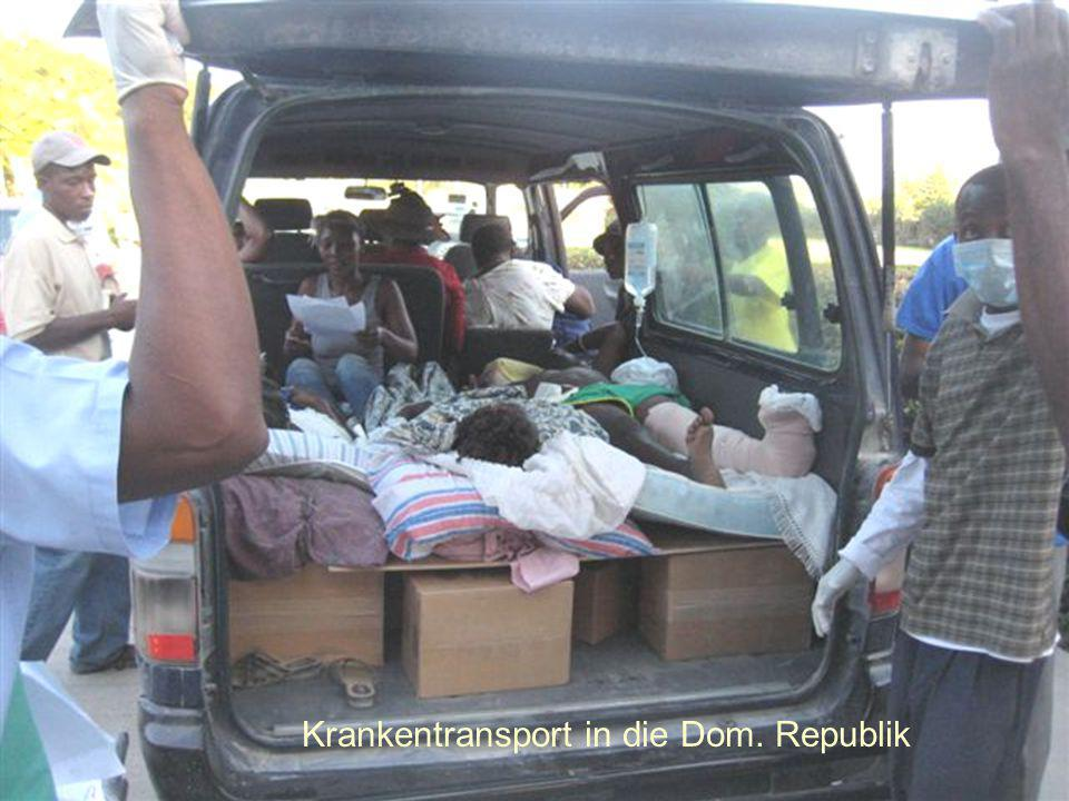 Krankentransport in die Dom. Republik