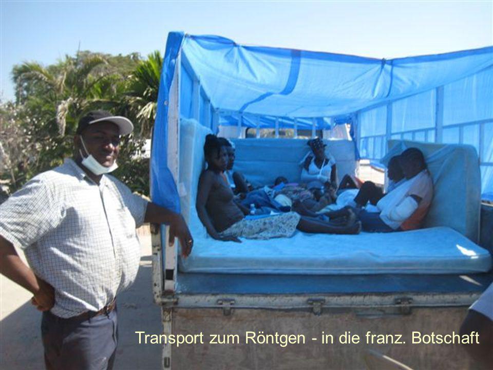 Transport zum Röntgen - in die franz. Botschaft