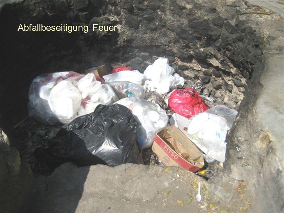 Abfallbeseitigung Feuer