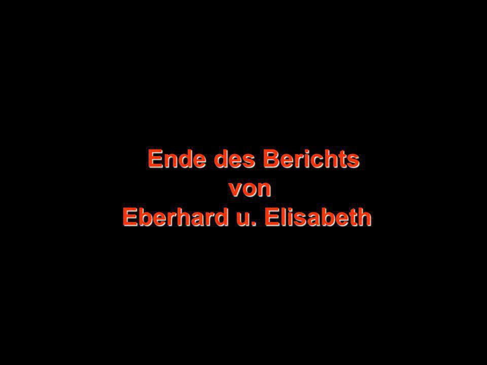 Ende des Berichts von Eberhard u. Elisabeth