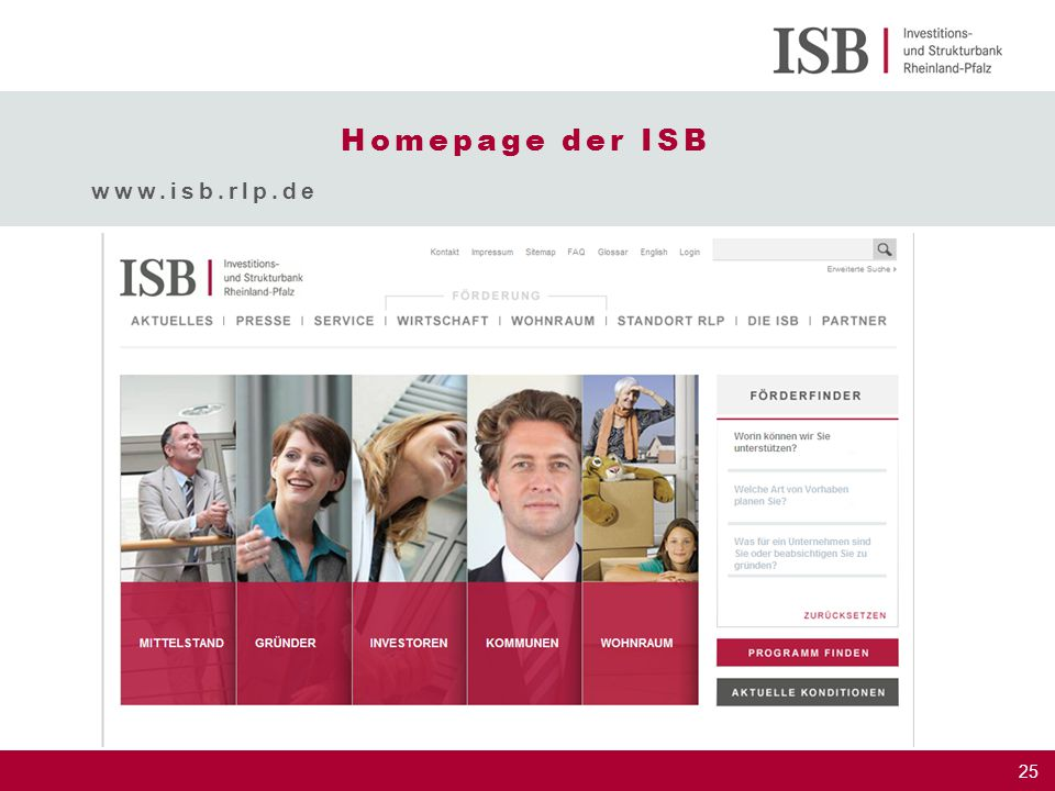 25 Homepage der ISB www.isb.rlp.de