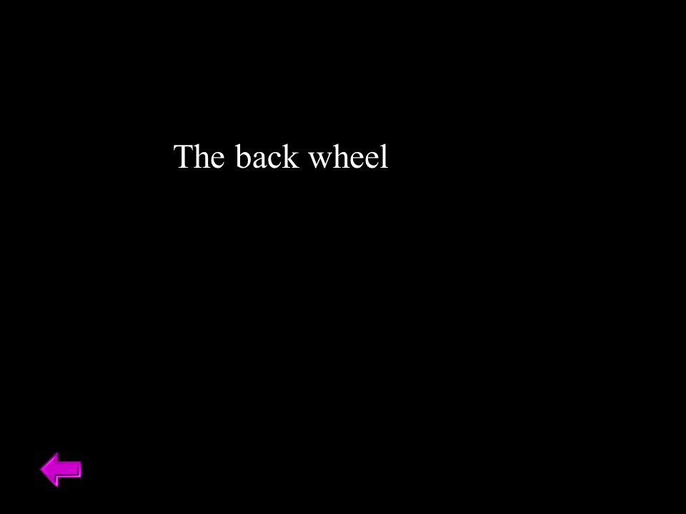 The back wheel
