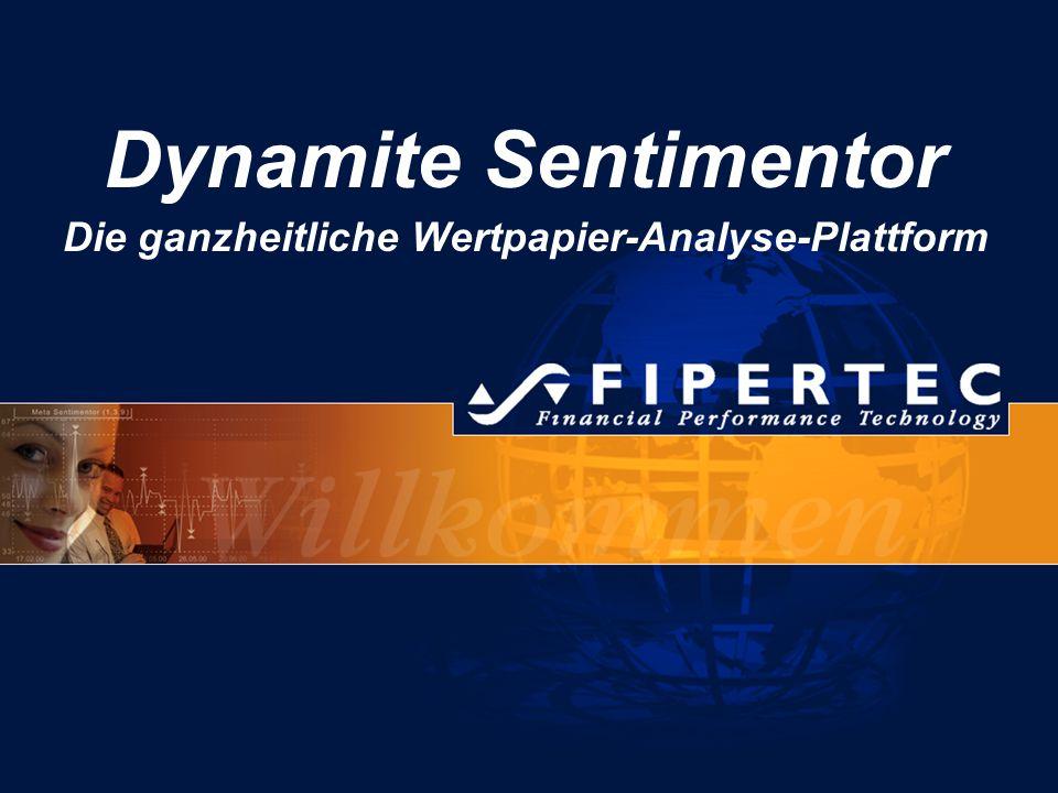 Dynamite Sentimentor V4 22 Signalbewertung Sentimentor-Signale Richtige Signale gemäß Gütekriterium BuySellNeutral Buy-Yes+10 Buy-No -20 Sell-Yes+10 Sell-No-20 100 50 0 +1 -2 +1 +1 +1+1 +1 -2 +1 +1 Bewertung = 4 Konfigurierbare Bewertungspunkte