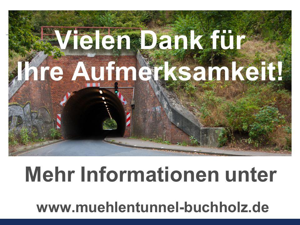 Vielen Dank für Ihre Aufmerksamkeit! Mehr Informationen unter www.muehlentunnel-buchholz.de