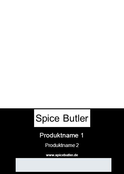 Produktname 1 Produktname 2 www.spicebutler.de Spice Butler