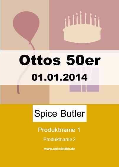 Produktname 1 Produktname 2 www.spicebutler.de Spice Butler Ottos 50er 01.01.2014