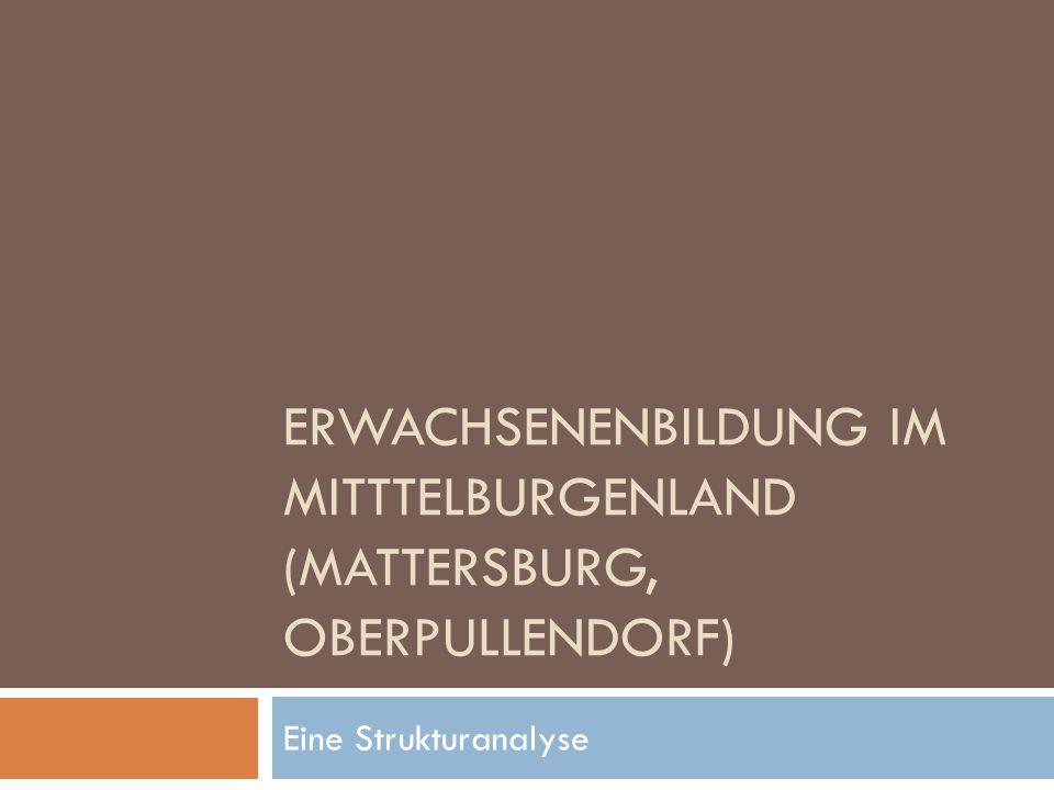 ERWACHSENENBILDUNG IM MITTTELBURGENLAND (MATTERSBURG, OBERPULLENDORF) Eine Strukturanalyse