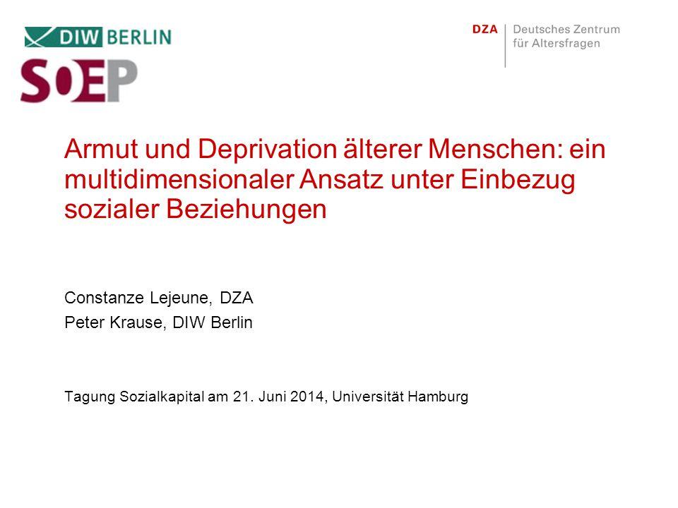 Aufbau Vortrag Theoretische Anknüpfung Operationalisierung Deskriptive Ergebnisse Multiple Deprivationsmessung Multiple Empirie Ausblick 2