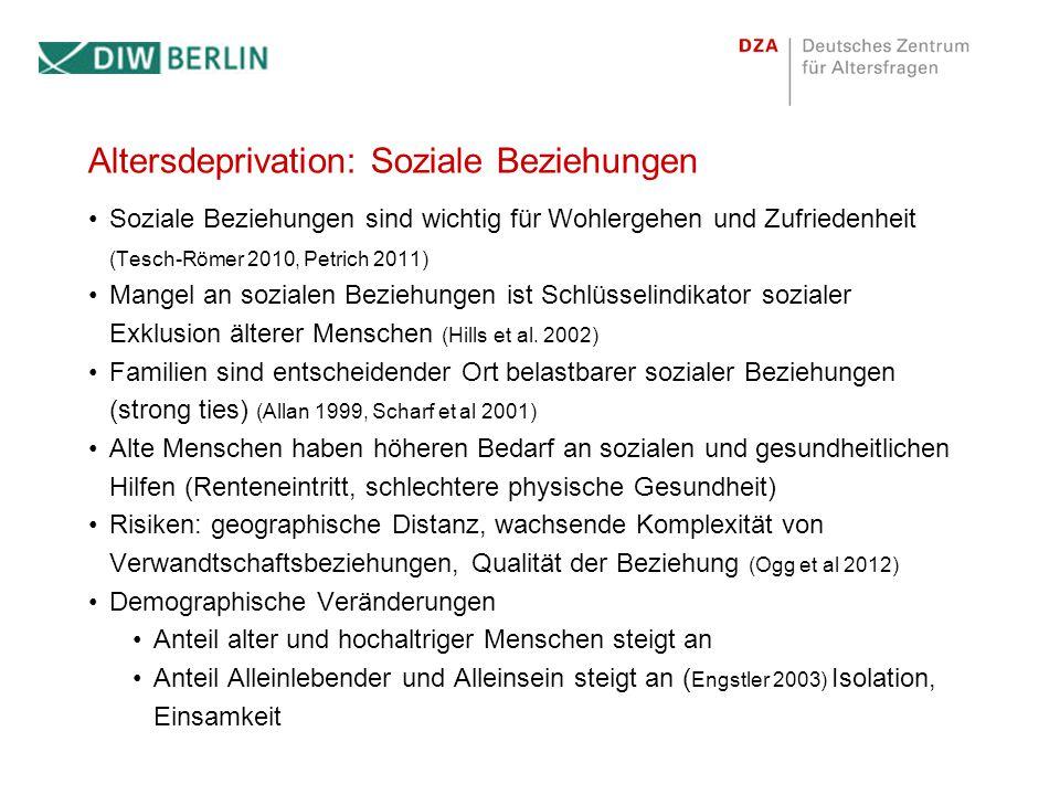 Theorie mehrdimensionaler Deprivation Lebenslagenansatz (Voges et al.