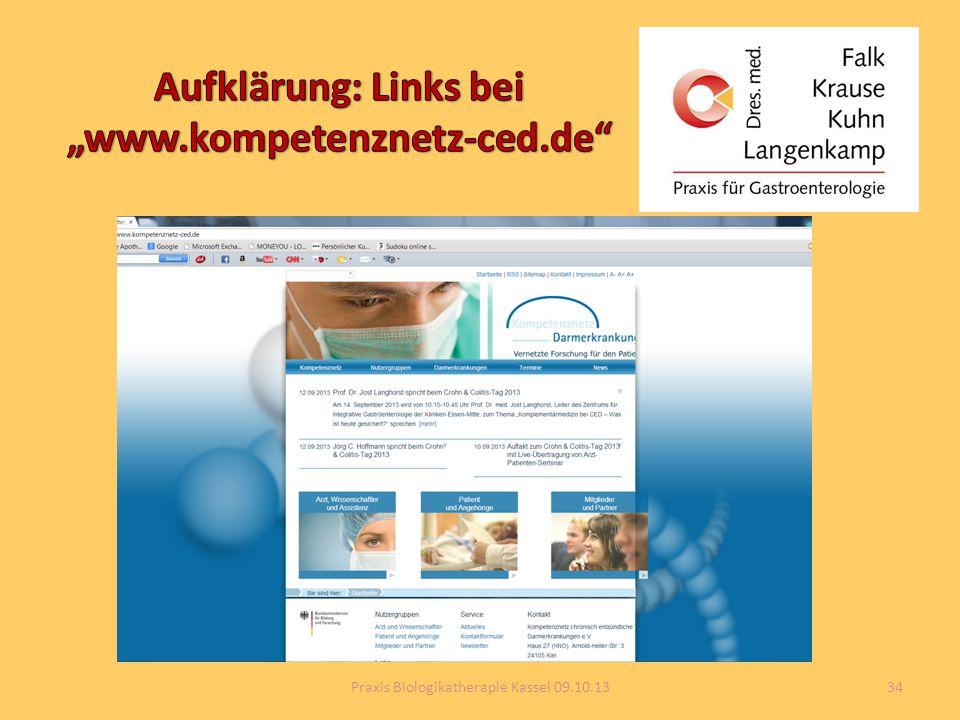 34Praxis Biologikatherapie Kassel 09.10.13