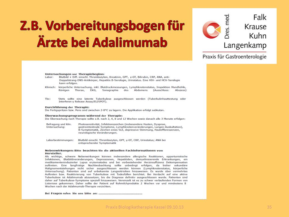 35Praxis Biologikatherapie Kassel 09.10.13