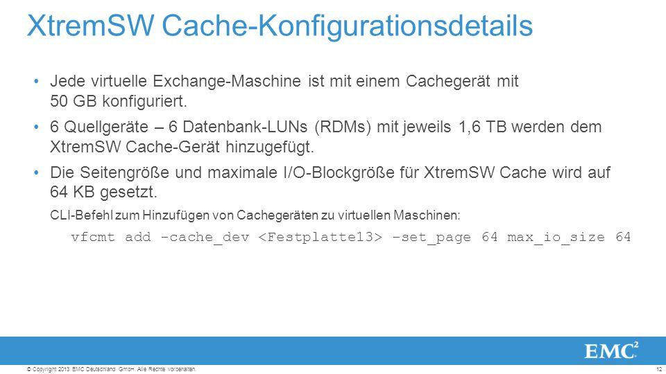 12© Copyright 2013 EMC Deutschland GmbH. Alle Rechte vorbehalten.