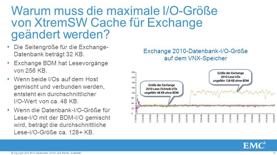 13© Copyright 2013 EMC Deutschland GmbH. Alle Rechte vorbehalten.