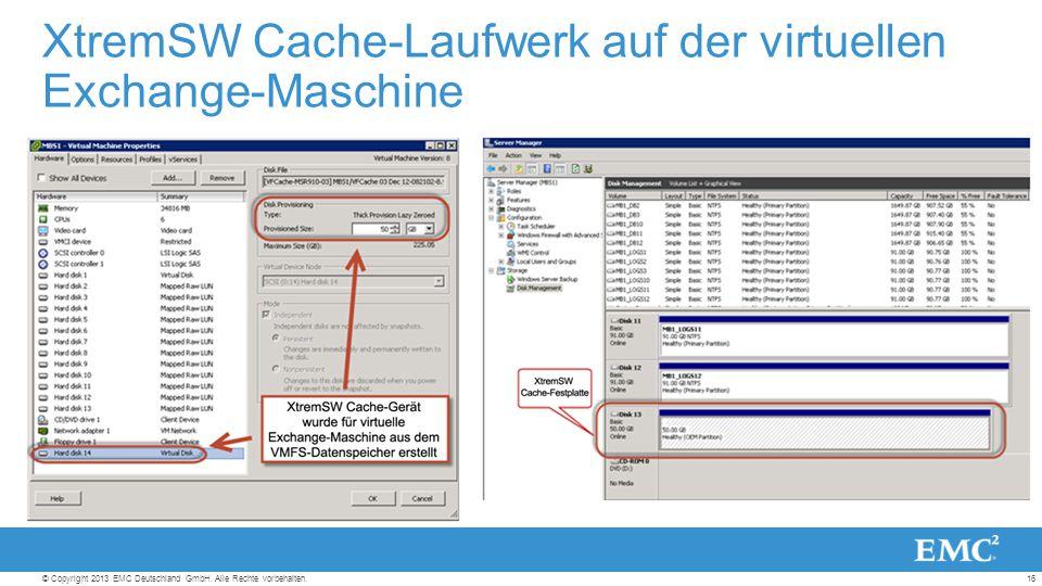 16© Copyright 2013 EMC Deutschland GmbH. Alle Rechte vorbehalten.
