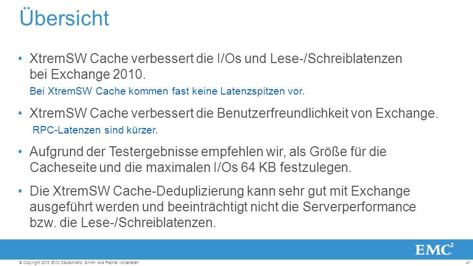 41© Copyright 2013 EMC Deutschland GmbH. Alle Rechte vorbehalten.