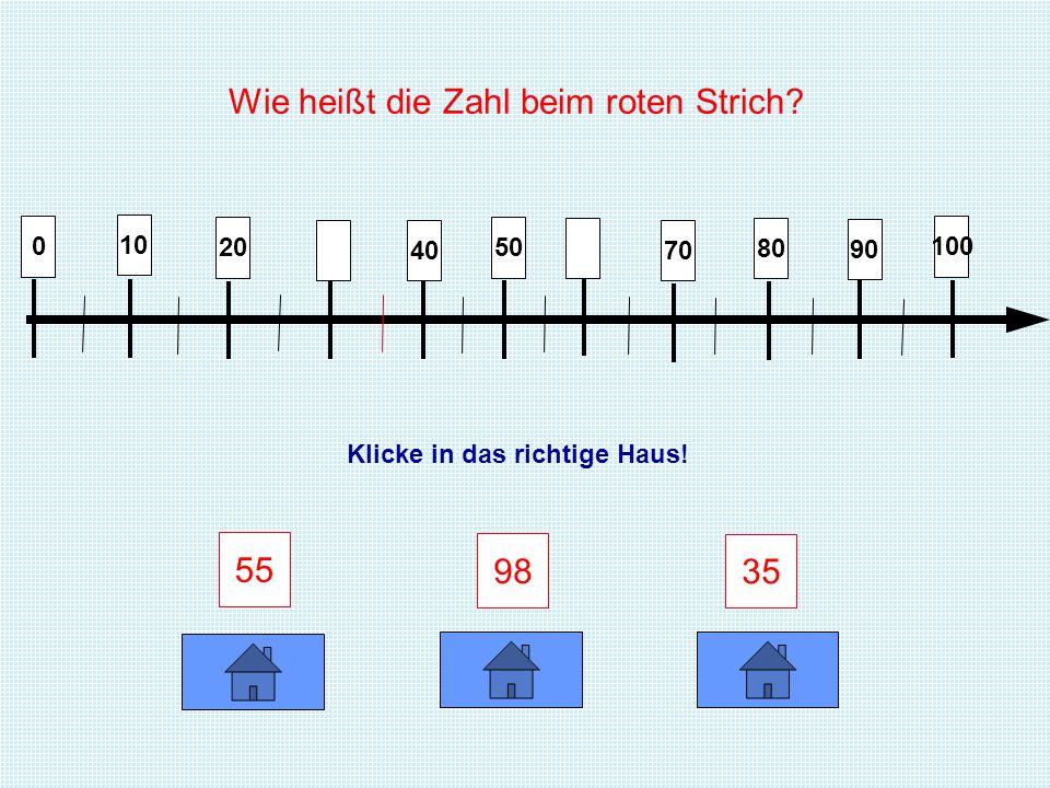 Der Zahlenstrahl Orientierung im Zahlenraum 100 erstellt von Edith Smolka für den Wiener Bildungsserver www.lehrerweb.at - www.kidsweb.at - www.eltern