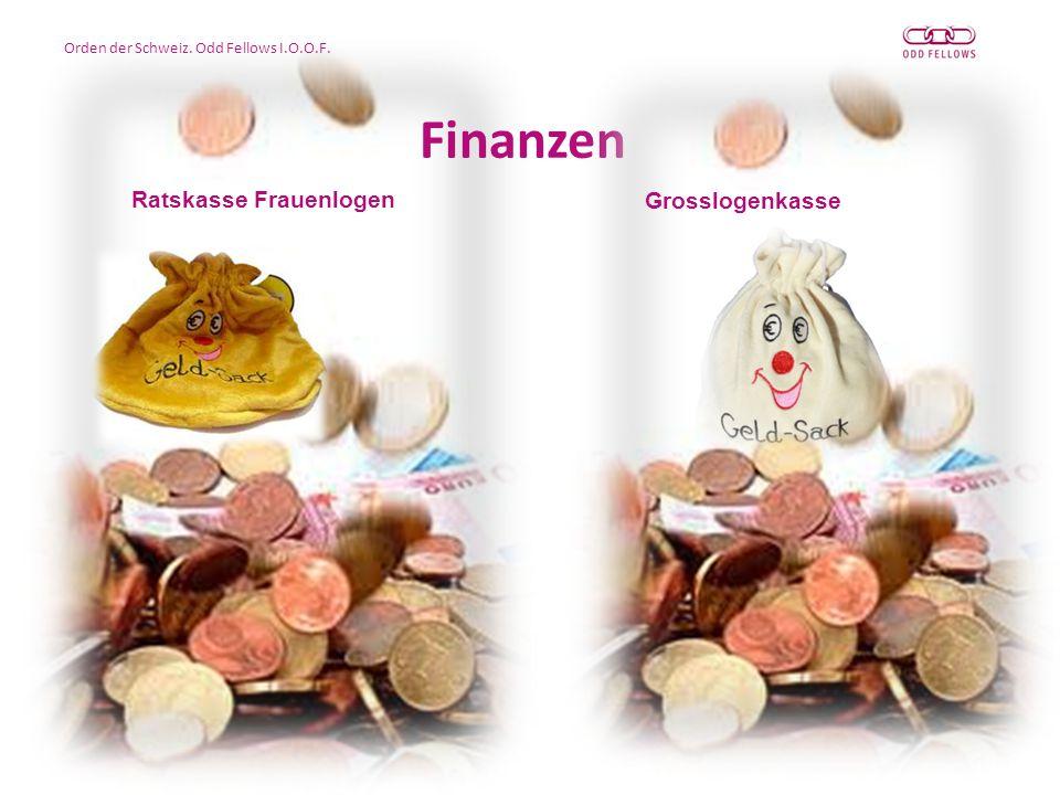 Orden der Schweiz. Odd Fellows I.O.O.F. Finanzen Ratskasse Frauenlogen Grosslogenkasse