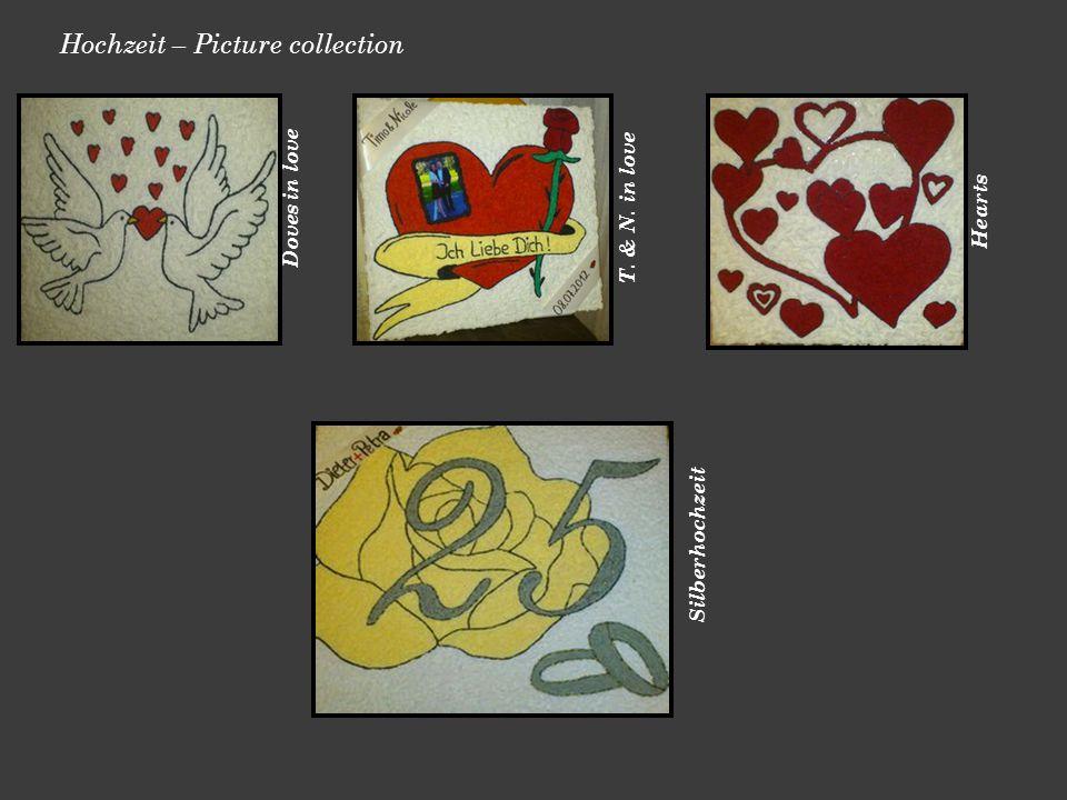 Hochzeit – Picture collection Doves in love T. & N. in love Hearts Silberhochzeit