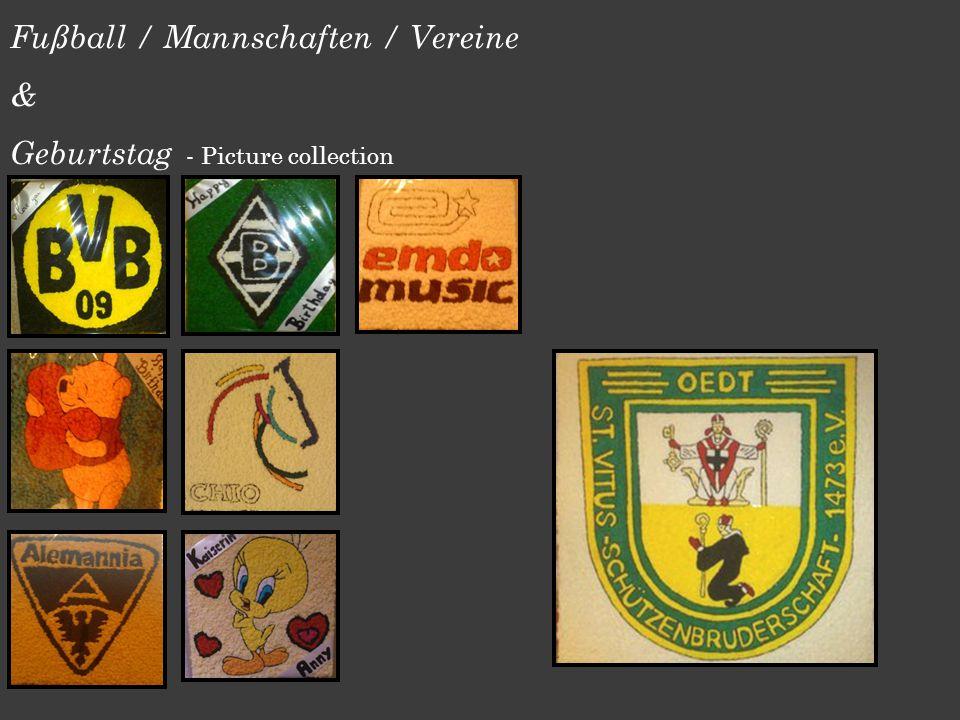 Fußball / Mannschaften / Vereine & Geburtstag - Picture collection