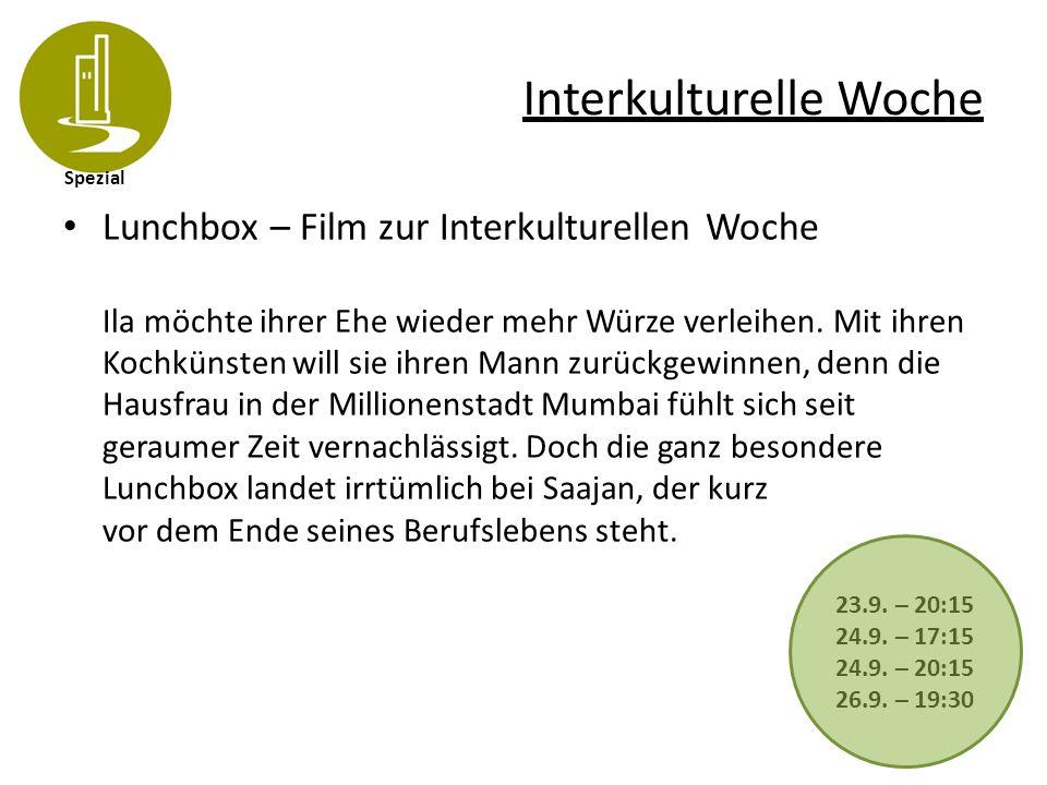 Spezial Interkulturelle Woche Lunchbox – Film zur Interkulturellen Woche Ila möchte ihrer Ehe wieder mehr Würze verleihen. Mit ihren Kochkünsten will