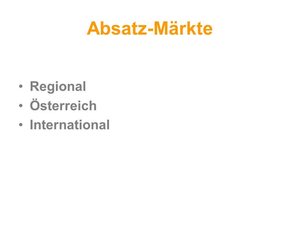 Absatz-Märkte Regional Österreich International