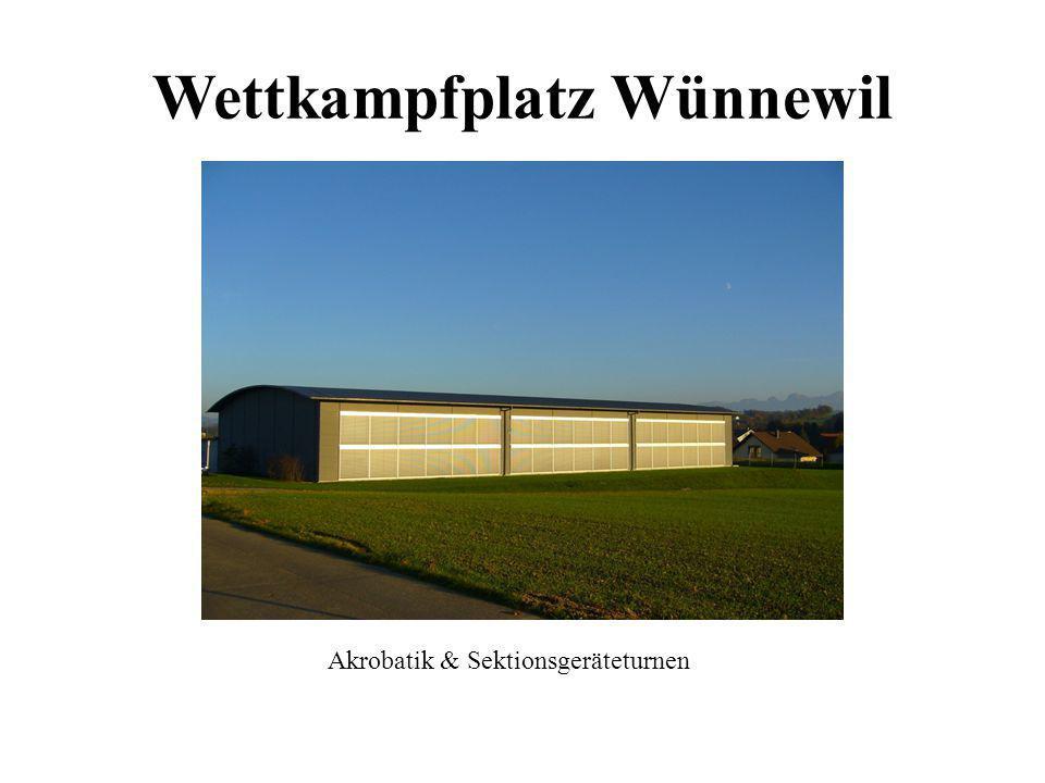 Wettkampfplatz Wünnewil Akrobatik & Sektionsgeräteturnen
