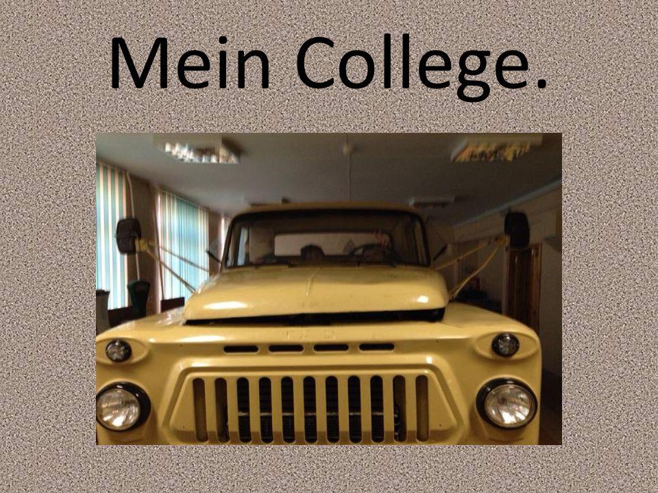 In diesem Jahr möchte ich mein Abitur und ging auf College für Autotransport.