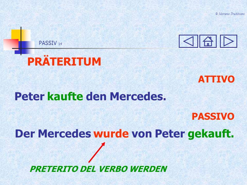 PASSIV 13 © Moreno Trubbiani PRÄSENS ATTIVO Peter kauft den Mercedes.