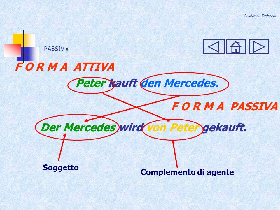 PASSIV 15 © Moreno Trubbiani PERFEKT ATTIVO Peter hat den Mercedes gekauft.