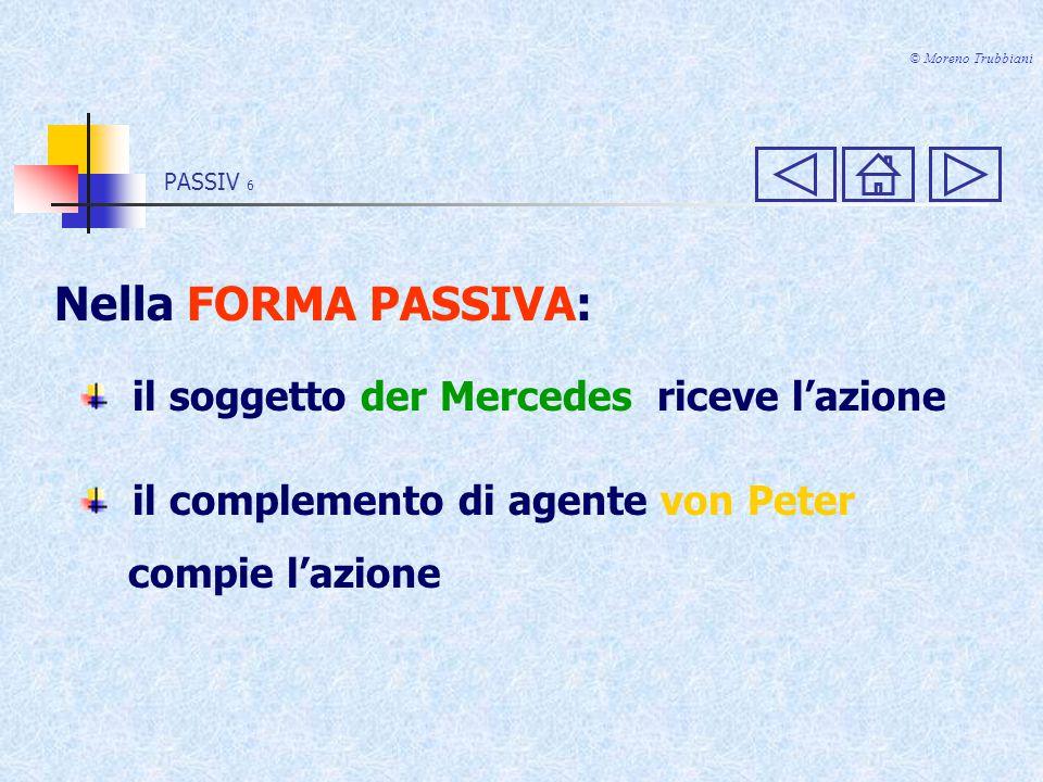 PASSIV 16 © Moreno Trubbiani PLUSQUAMPERFEKT ATTIVO Peter hatte den Mercedes gekauft.
