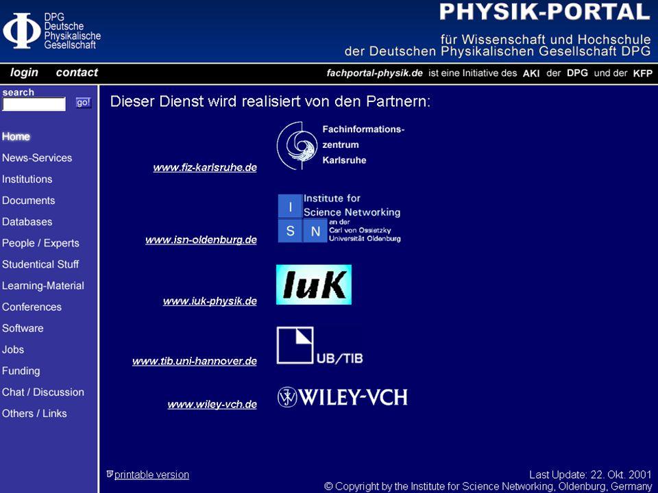 Portal-Treffen des AKI Hamburg 23. Oktober 2001 2