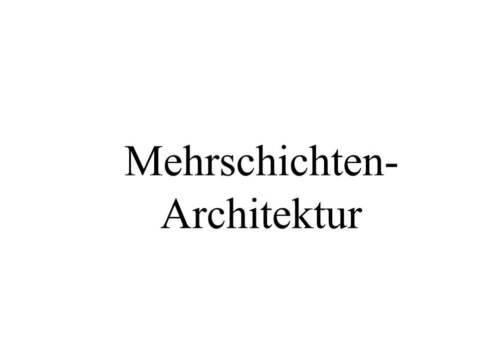 Mehrschichten- Architektur