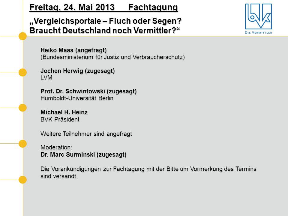 Heiko Maas (angefragt) (Bundesministerium für Justiz und Verbraucherschutz) Jochen Herwig (zugesagt) LVM Prof. Dr. Schwintowski (zugesagt) Humboldt-Un