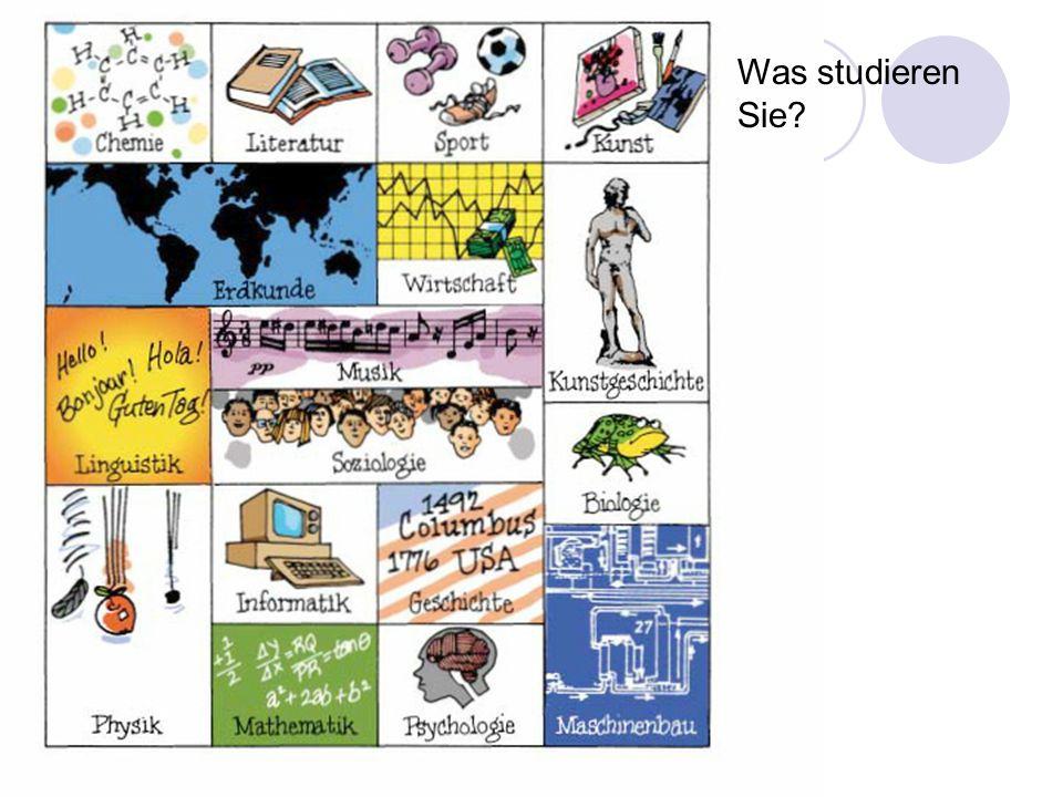 Schule und Universität Was studieren Sie?