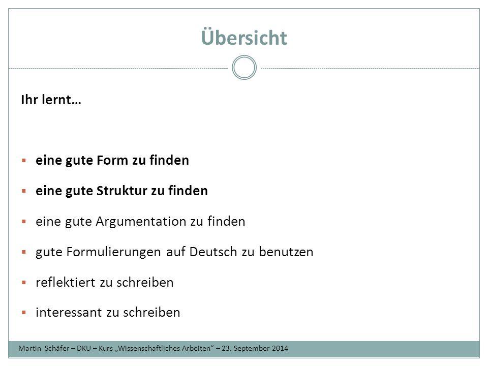 Form  Deckblatt: Name, Unidaten (siehe Beispiel), Thema der Arbeit  bei größeren Arbeiten (ca.