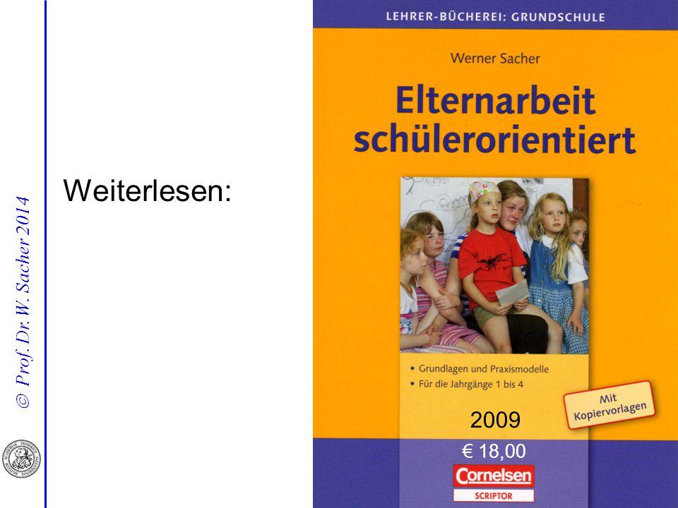  Prof. Dr. W. Sacher 2014 Weiterlesen: 2009 € 18,00