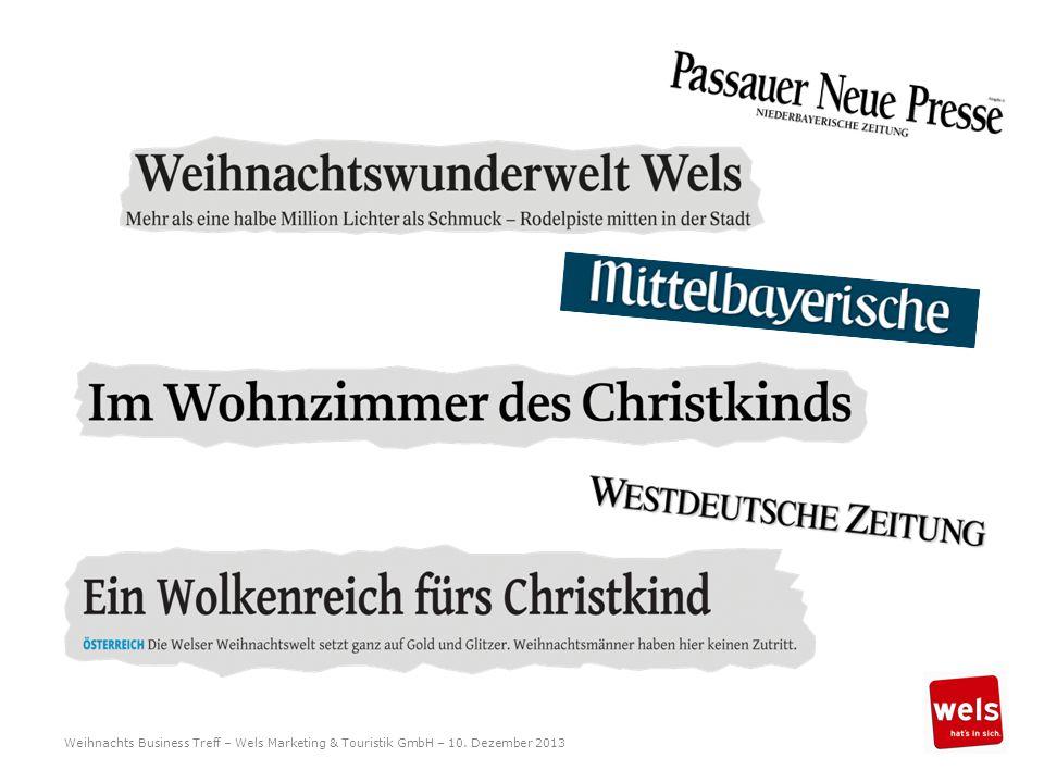 Weihnachts Business Treff – Wels Marketing & Touristik GmbH – 10. Dezember 2013