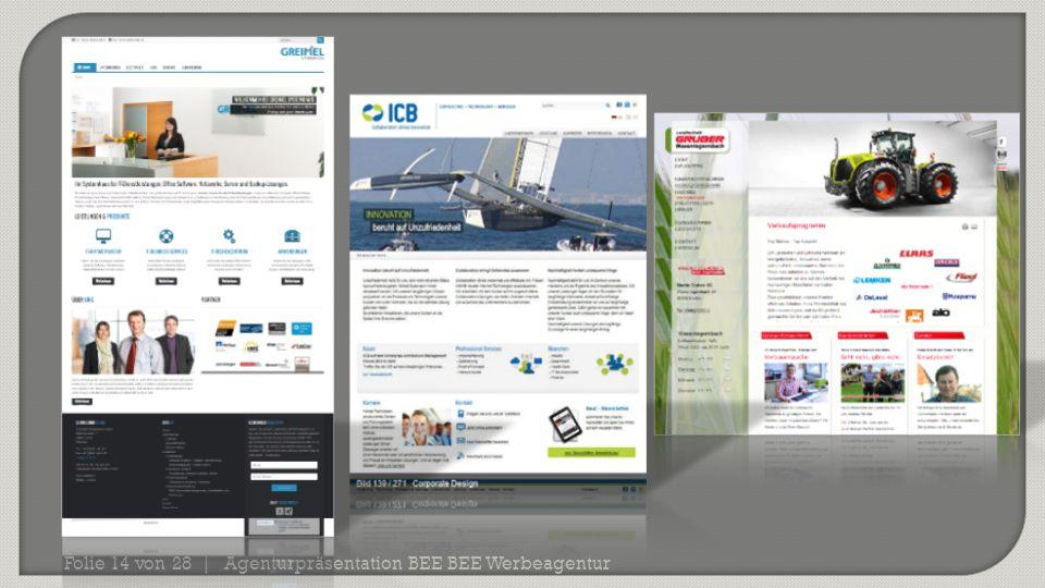 Agenturpräsentation BEE BEE Werbeagentur Folie 14 von 28 |
