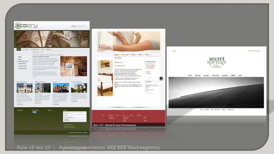 Agenturpräsentation BEE BEE WerbeagenturFolie 15 von 23 |