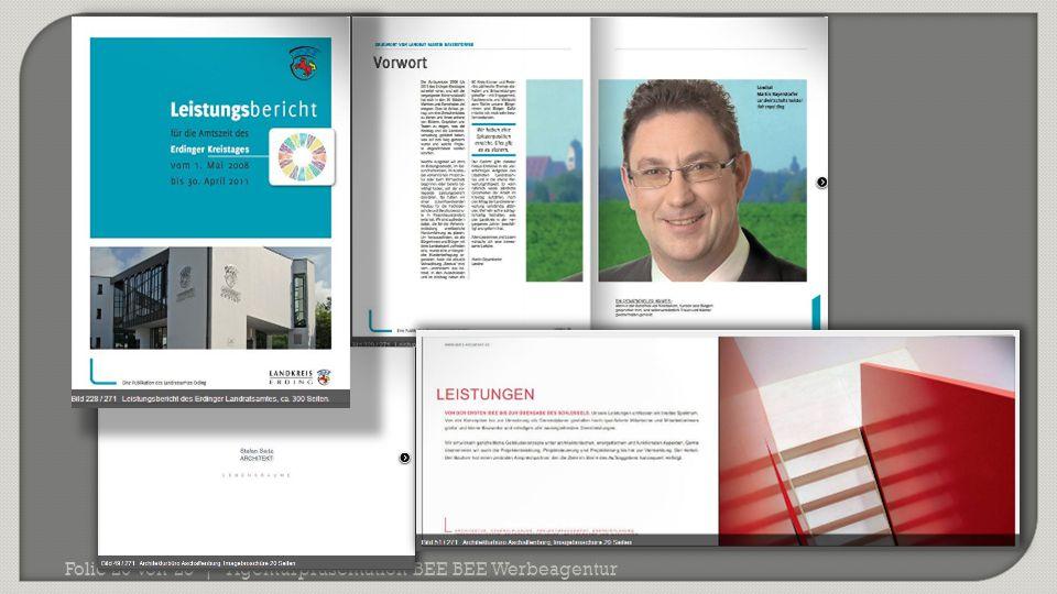 Agenturpräsentation BEE BEE WerbeagenturFolie 20 von 23 |