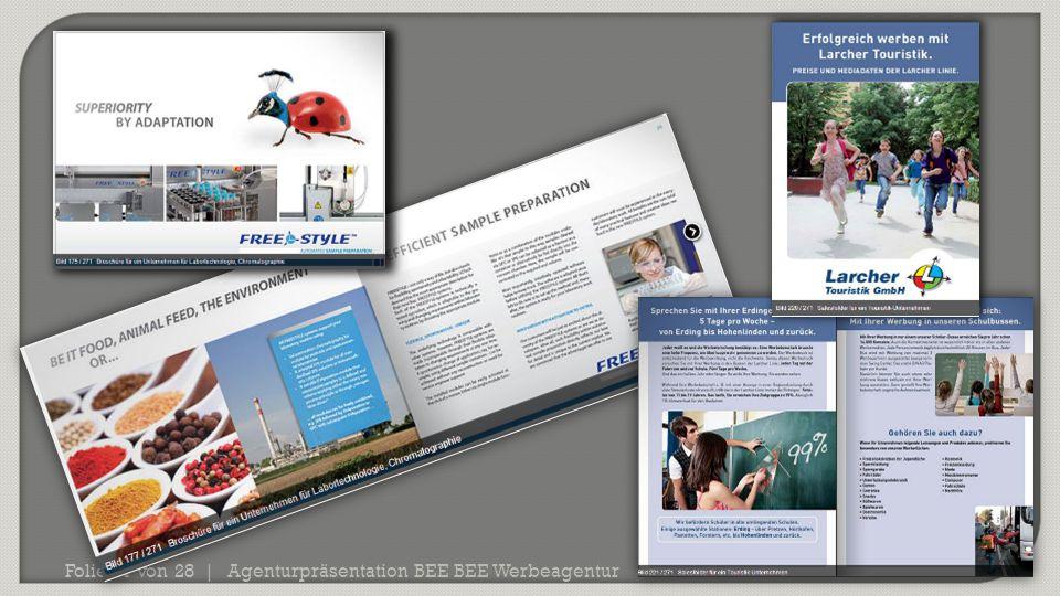 Agenturpräsentation BEE BEE Werbeagentur Folie 21 von 28 |