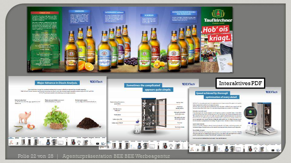 Agenturpräsentation BEE BEE Werbeagentur Folie 22 von 28 | Interaktives PDF