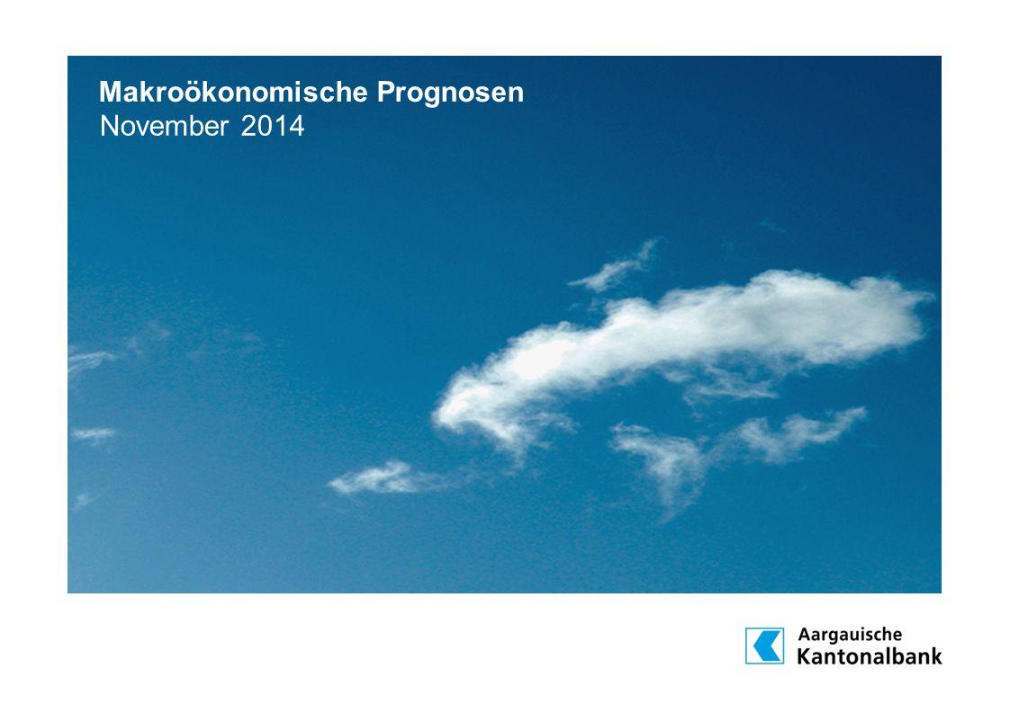 Makroökonomische Prognosen November 2014