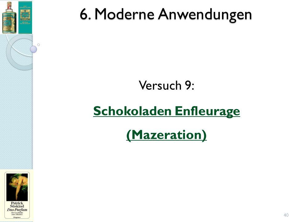 6. Moderne Anwendungen 40 Versuch 9: Schokoladen Enfleurage (Mazeration)